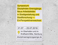 Poster for a Symposium about Urban Design