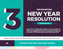 2016 New Year Resolution Infographics