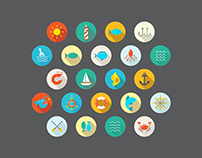 35+ Amazing Flat Icons / Perfect for All Design Project