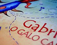 """""""GABRIEL, O GALO CANTOR"""" - Livro Infantil (2015)"""