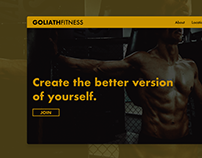 A Gym ui landing page.