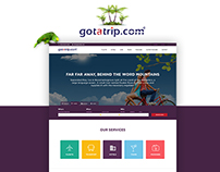 Travel Company Landing Page design