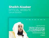 Sheikh Alsaber official website UI/UX