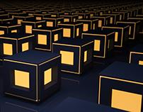 An array of cubes