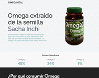 Omega Vital - Landing page