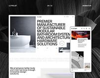E-commerce website design - Le Projet