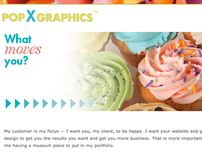 About Page for Pop X Graphics Design
