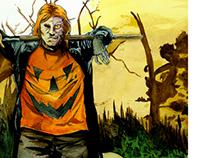 Halloween Man Pin-Up