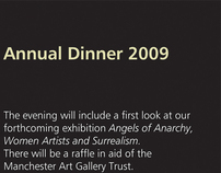 Manchester Art Gallery, Annual Dinner Invitation 2009