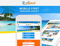 D-reizen - Mobile First - Webdesign Concept