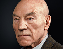Sir Patrick Stewart Portrait Sitting