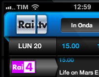 Rai iPhone App proposal for TV guide - 2010