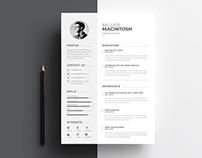 Minimal Creative Word Resume Template