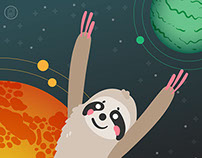 Arty is an Astronaut Sloth | App Design - Older Version