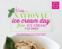 KRISP Fresh Living - National Ice Cream Day