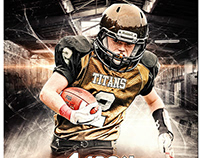 Football sports photography templates