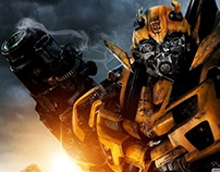 3D Animation - bumblebee transformers Test