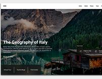 Tourism website concept design