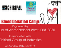 Blood Donation Camp by Rotary and Chiripal Group