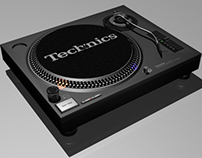 Technics Turntable / 3D Modelling