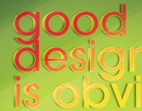 Good vs Great Design - Poster