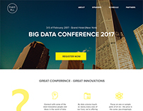 Landing page for conference