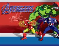 The Avengers Vector Art Wallpaper