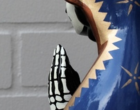 'Dead Mary' - Enamel on ceramic