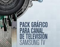 Pack gráfico para canal de televisión - Samsung TV