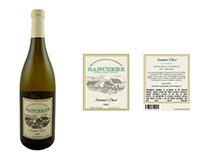 Sommet Doré Wine Label
