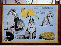 Jane's Closet - Mural on Grand Street, Brooklyn