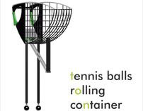 TENNIS BALLS ROLLING CONTAINER