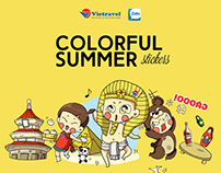 Vietravel - Colorful Summer Stickers