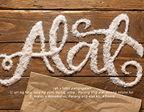 """Alat"" Salt Food Typography"