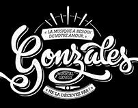 Gonzales lettering