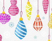 Free Christmas Watercolor Vector Illustrations
