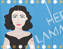 Hedy Lamarr Animated Doodle