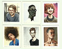 Watercolor Portraits Compilation