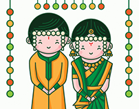 Marathi Wedding Invitation - Cute Couple Collection