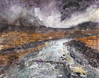 On Skye, mixed media on watercolour paper