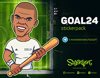 GOAL24 Stickerpack