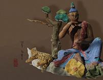 Buddha and leopard