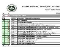 LEED Project Checklist