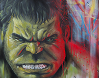 Hulk Paint canvas Dave Baranes