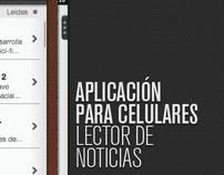 Aplicación para celulares - Lector de Noticias