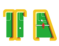 桌式足球字体 Table soccer fonts