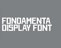 FONDAMENTA - FREE ALL CAPS DISPLAY FONT