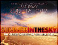 SkyClub Flyer - Summer In The Sky