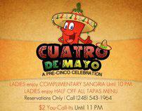 Cuatro De Mayo Flyer - Sangria - Royal Oak, MI