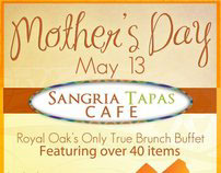 Mother's Day Flyer - Sangria Cafe.